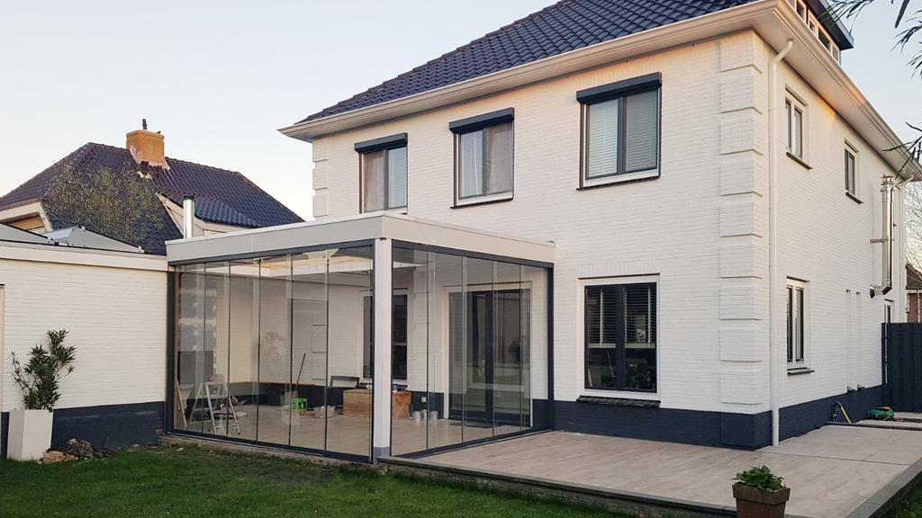 Serre Aan Huis : Glazenschuifwand serre huis veranda glazenschuifwand specialist